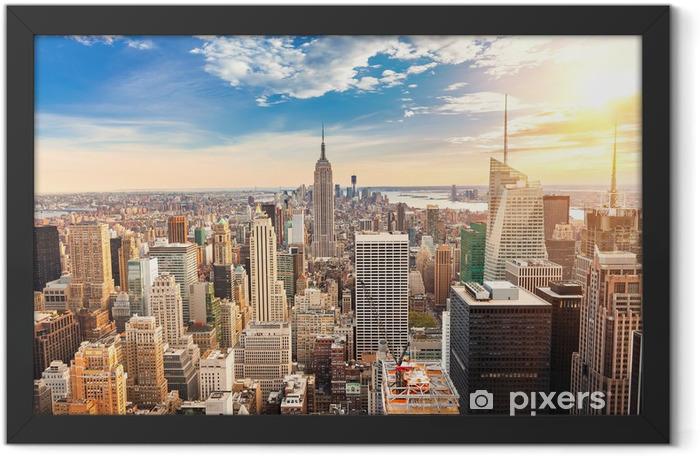 Plakat w ramie Manhattan z lotu ptaka - iStaging