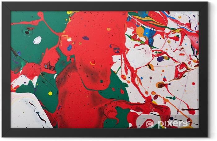 Plakat w ramie Abstrakcyjne żywy obraz - Zasoby graficzne
