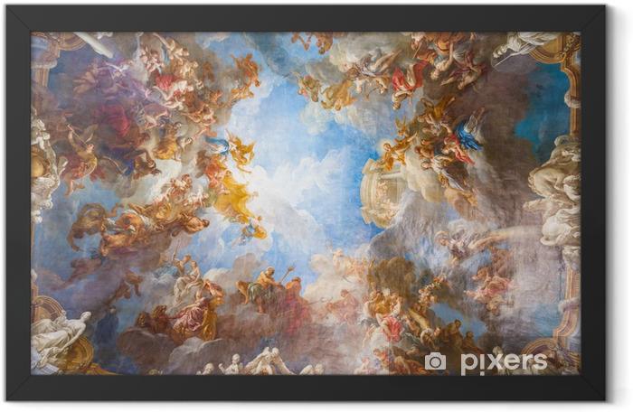 Ingelijste Poster Plafondschildering van Palace Versailles in de buurt van Parijs, Frankrijk - Monumenten