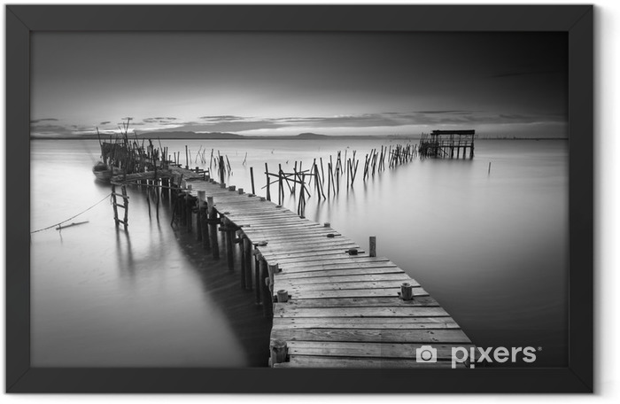 A peaceful ancient pier Framed Poster - Landscapes