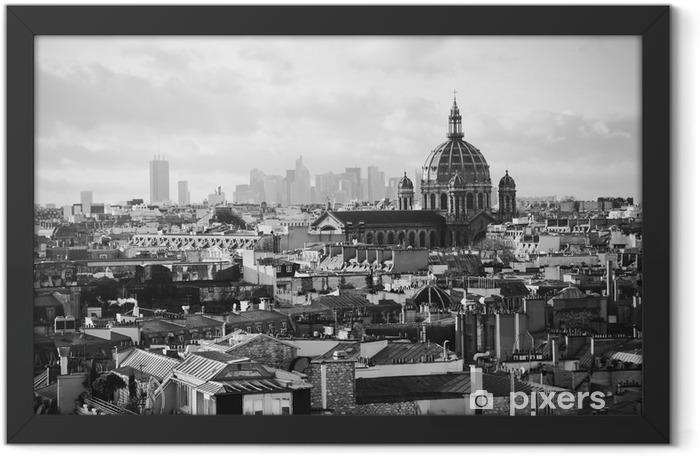 Plakat w ramie Piękny widok na Paryż retro - Podróże