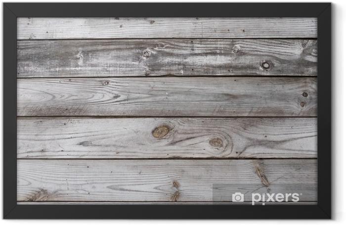 Plakat w ramie Aged Wood Background Texture pozioma - Zasoby graficzne