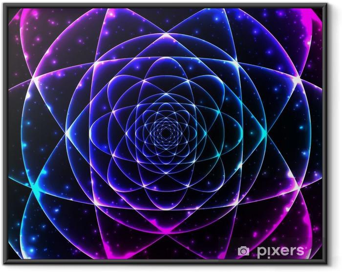Sacred geometry symbol. Mandala mystery element Framed Poster - Science