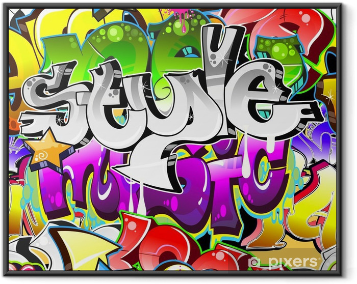 Graffiti Urban Art Background. Seamless design Framed Poster - Themes