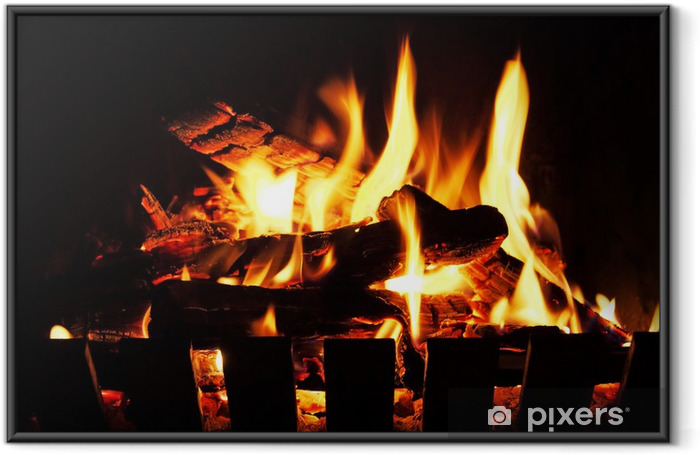 open fire Framed Poster - Themes