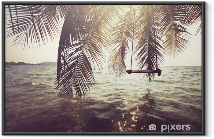 Tropical beach Framed Poster - Themes