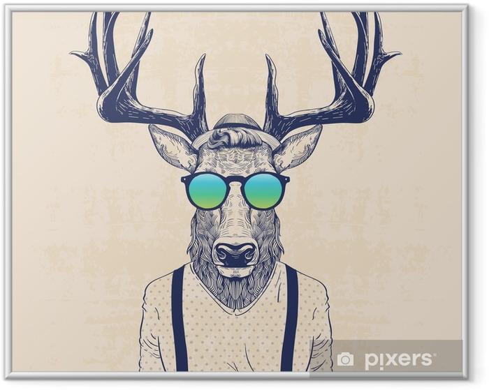 cool deer Framed Poster - Animals
