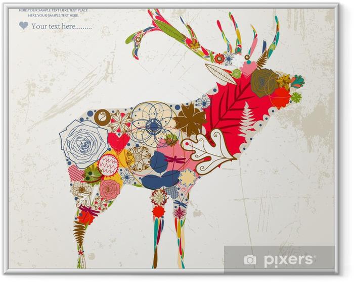 deer Framed Poster - Happiness