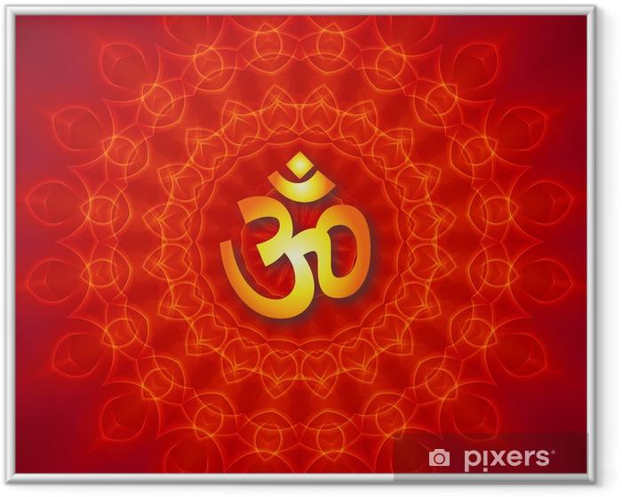 Ingelijste Poster Als Mandala Ontwerp - Religie