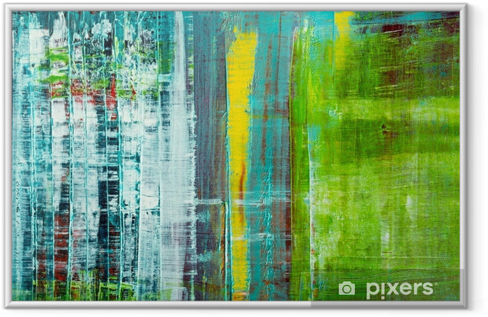 Abstract painted canvas. Oil paints on a palette. Framed Poster - Graphic Resources