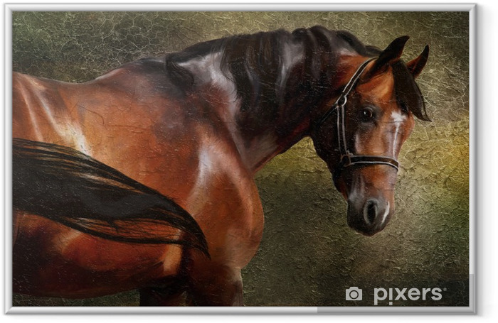 The Thoroughbred classical oil portrait Framed Poster - Criteo