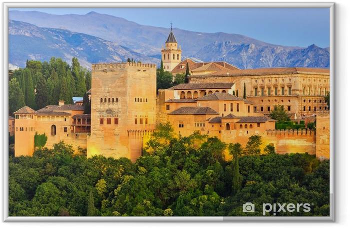 Póster Enmarcado Palacio de la Alhambra, Granada, España - Temas