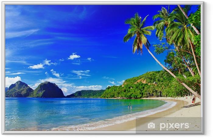 panoramic beautiful beach scenery - El-nido,palawan Framed Picture - Themes