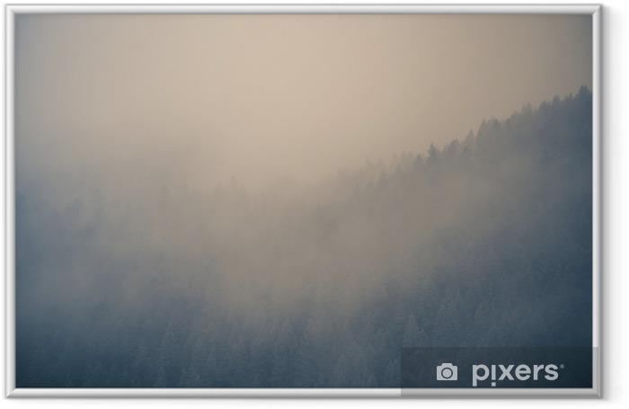 Misty Forest Background Framed Poster - Landscapes