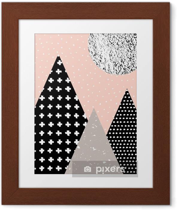 Póster Enmarcado Paisaje abstracto geométrico - Recursos gráficos
