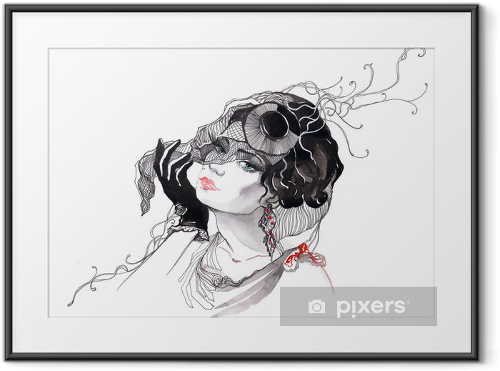 beautiful glamour woman (series C) Framed Poster - Styles