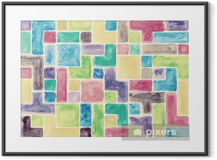 Watercolor background Framed Poster - Backgrounds