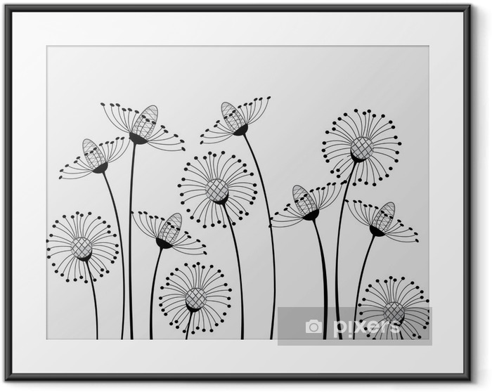 meadow flowers Framed Poster - Science & Nature