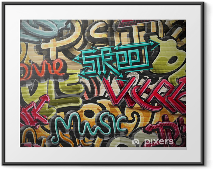 Graffiti background Framed Poster -