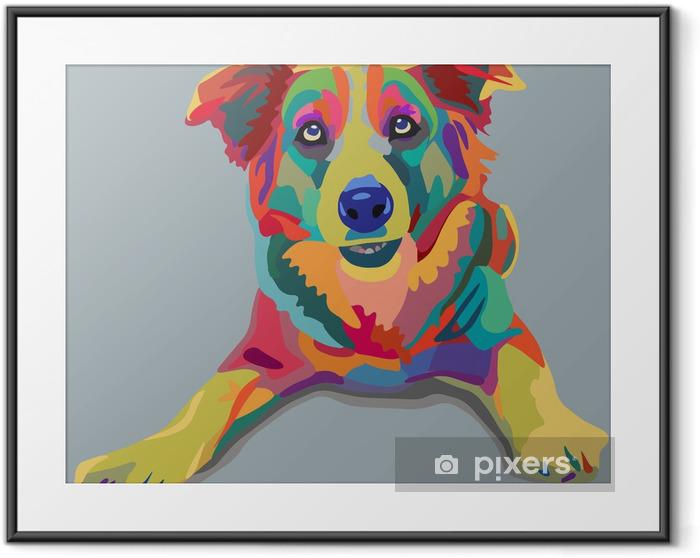 dog pop-art Framed Poster - Styles