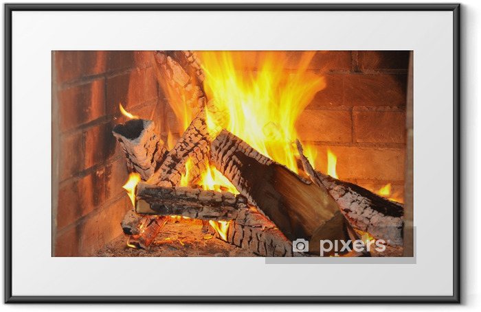 fire-place Framed Poster - Themes