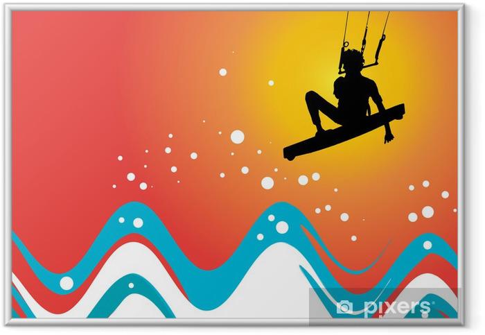 Poster en cadre Kiteboarding - Sports aquatiques