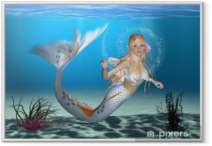 Ingelijste Poster Mermaid - Bestemmingen
