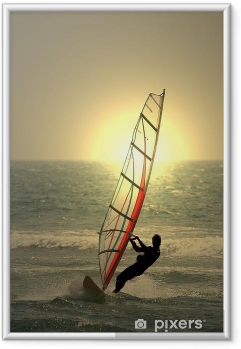 Plakat w ramie Surfing - Sporty wodne