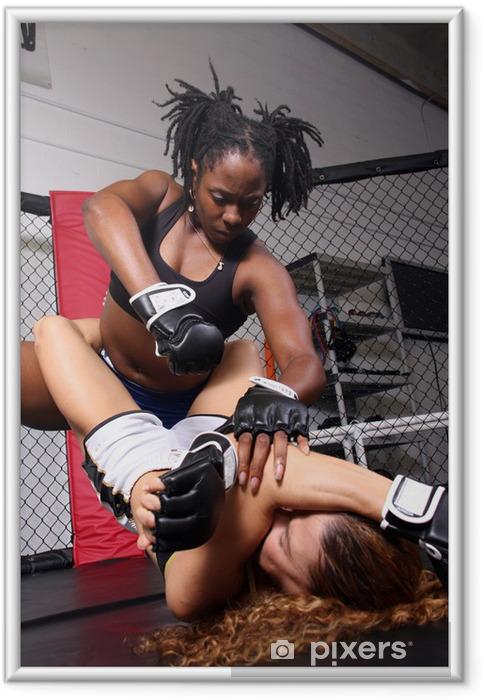 Poster en cadre Combattants de MMA femmes - Thèmes