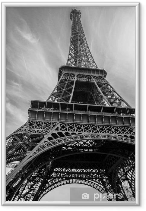 Gerahmtes Poster Eiffelturm - Gebäude und Architektur