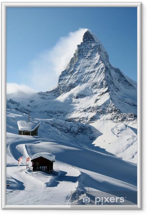 Plakat w ramie Matterhorn w zimie - Tematy