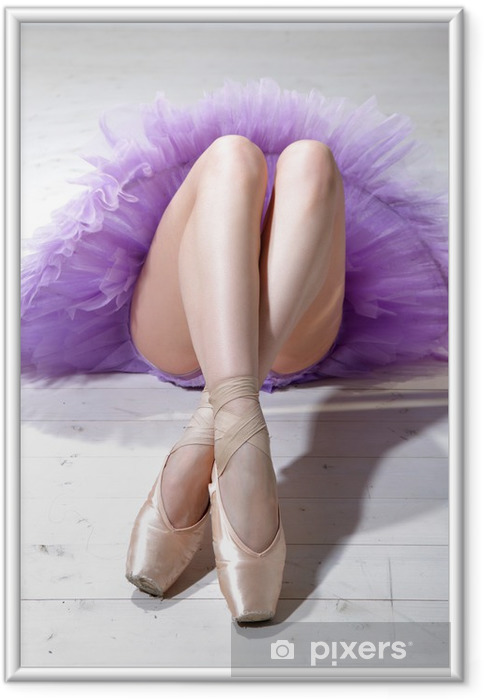 Plakat w ramie Ballerina nogi - Tematy