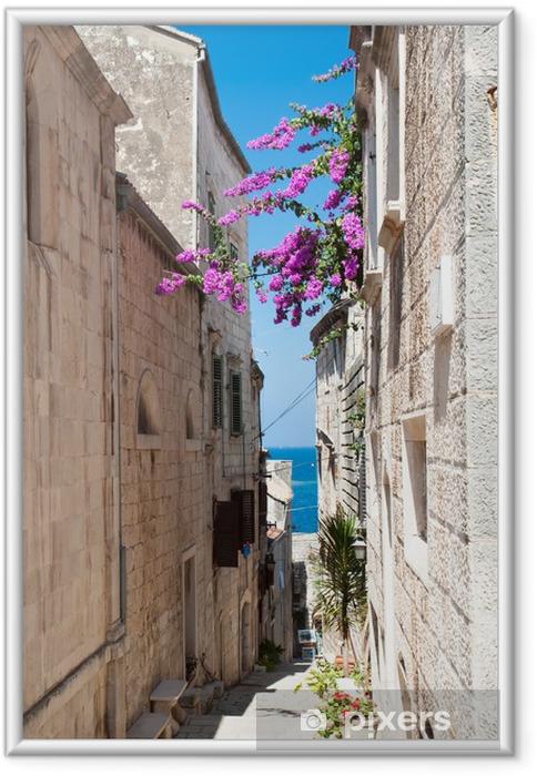 Plakat w ramie Ulica w Korcula, Chorwacja - Tematy