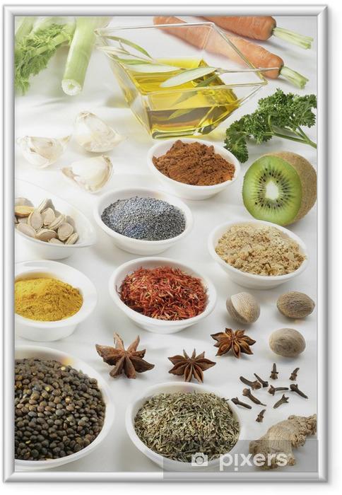 Poster en cadre Épices et aromates - Thèmes