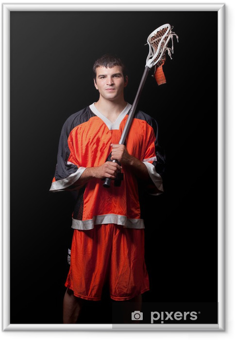 Innrammet plakat Lacrosse Player - Menn
