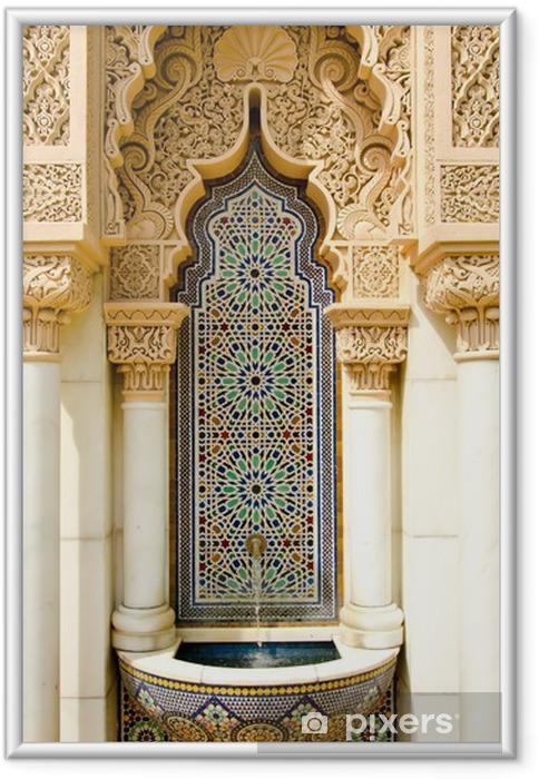 Plakat w ramie Marokański projektowania architektury - Bliski Wschód