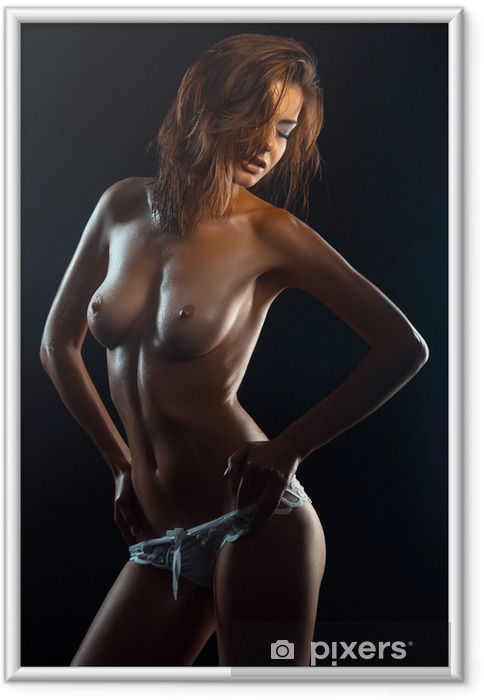 Poster i Ram Naken kvinna med en vacker figur - Teman