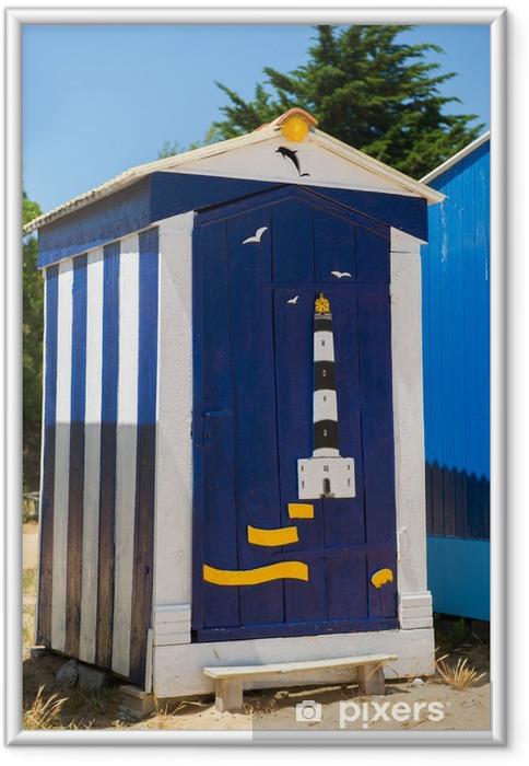 Poster en cadre Huttes de plage sur l'île d'Oléron en France - Vacances