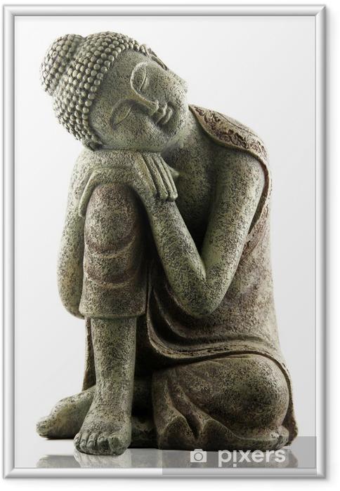 Ingelijste Poster Dreaming Boeddha - Muursticker