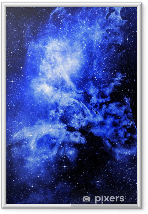 Stjerneklare dyb ydre rum nebual og galakse Indrammet plakat -