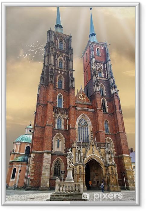 Poster en cadre Wroclaw cathédrale - Thèmes