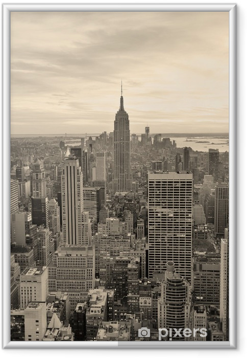 Plakat w ramie Empire State Building - Style