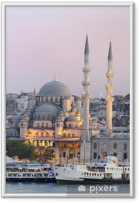 Ingelijste Poster Nieuwe moskee in Istanbul Turkije - Thema's