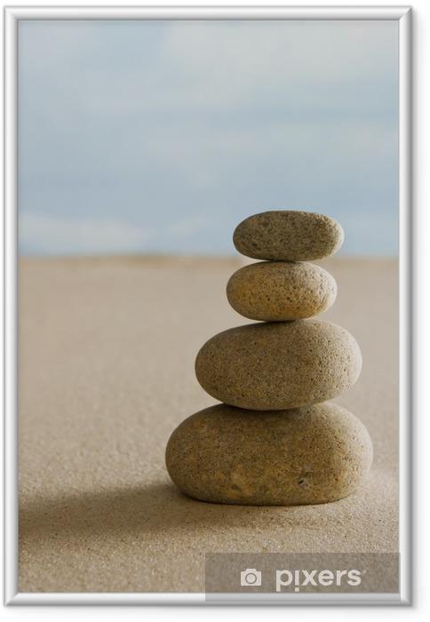 Poster en cadre Balancing stones - Thèmes