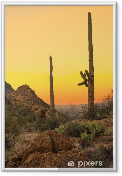 Poster i Ram Sonoraöknen i gryningen - Öknar