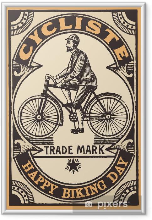 Çerçeveli Poster Le cycliste - Karayolu