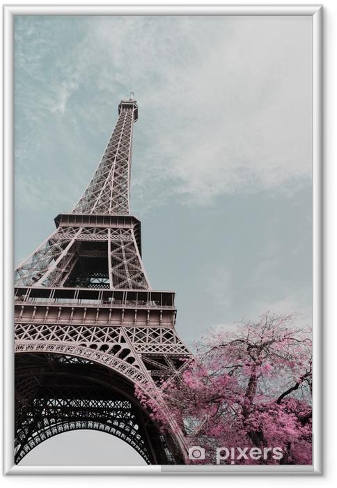 Ingelijste Poster Eiffel tower - Reizen