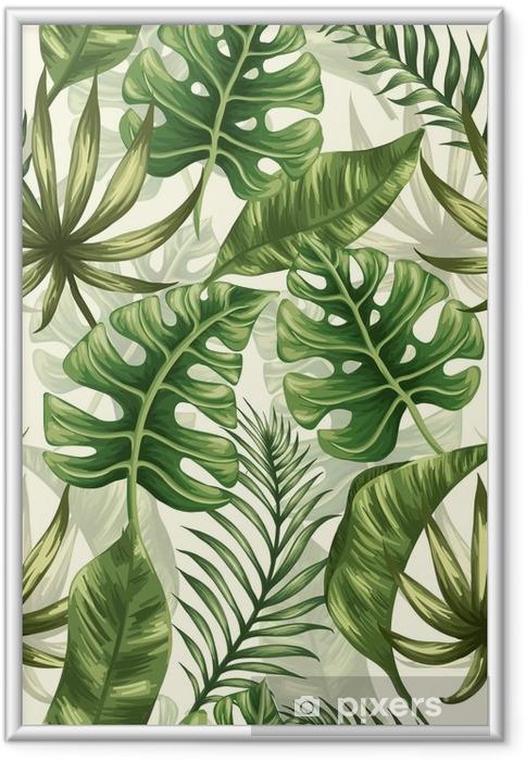 Ingelijste Poster Het patroon van bladeren - Bloemen en Planten