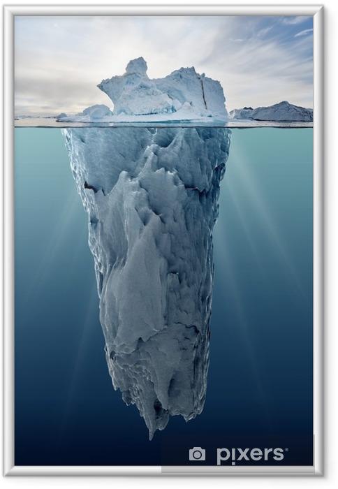 Plakat w ramie Lodowa z widokiem podwodnego - Krajobrazy
