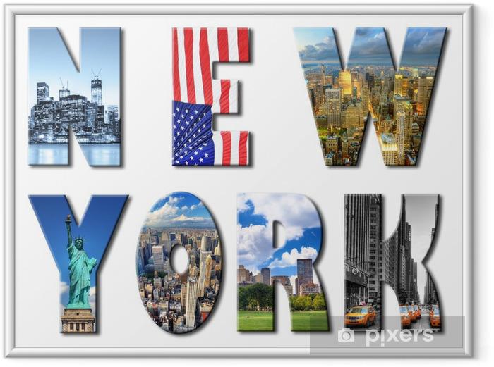 Poster i Ram New York - Teman